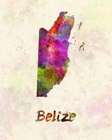 belize: Belize  in watercolor