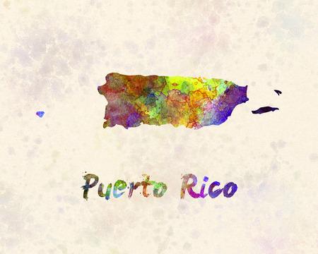 rico: Puerto Rico  in watercolor