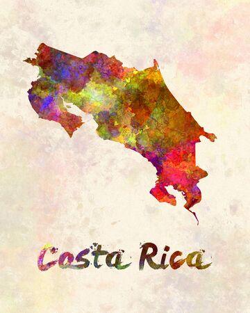 costa rica: Costa Rica in watercolor