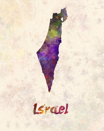 jerusalem: Israel  in watercolor