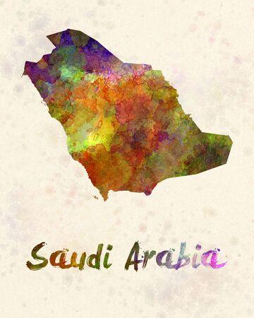 arabia: Saudi Arabia in watercolor