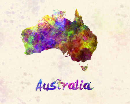 canberra: Australia  in watercolor