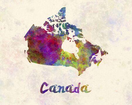 Canada in watercolor