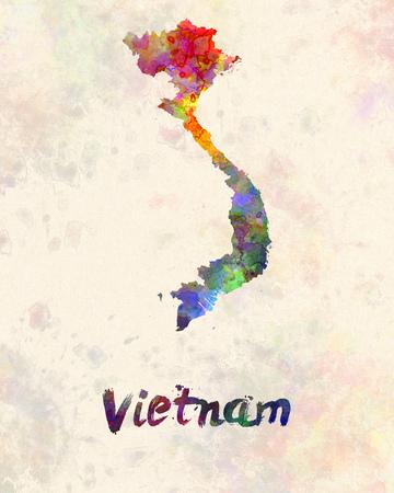 Vietnam à l'aquarelle Banque d'images - 56740900