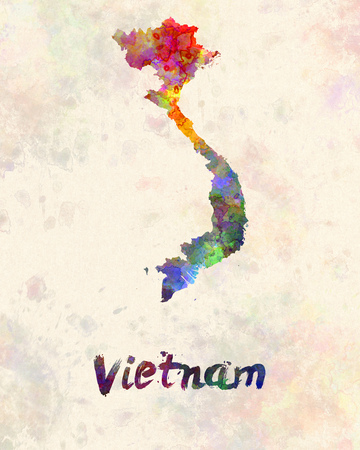 Vietnam in watercolor
