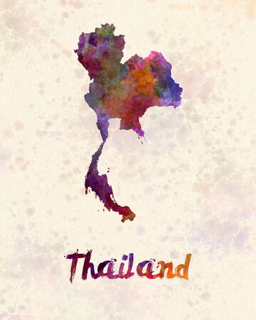 kingdom: Thailand in watercolor Stock Photo