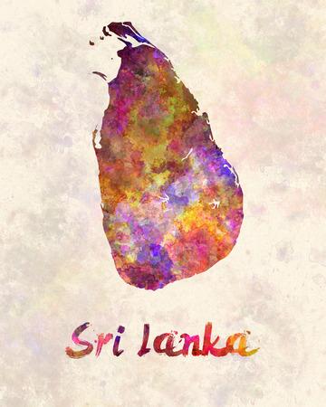 sri lanka: Sri Lanka in watercolor