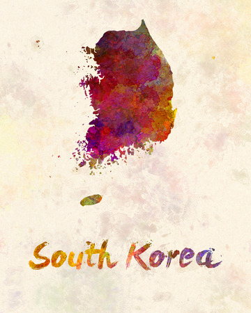 painting on the wall: South Korea in watercolor