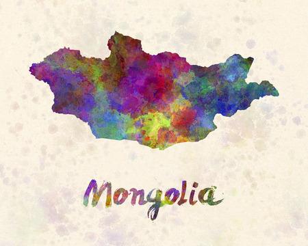 mongolia: Mongolia in watercolor