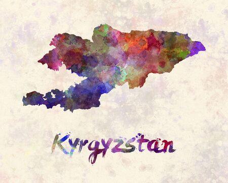 kyrgyzstan: Kyrgyzstan in watercolor
