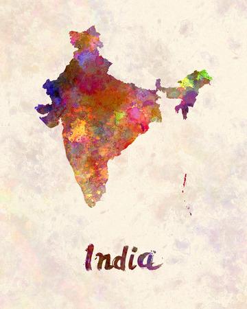 Inde à l'aquarelle