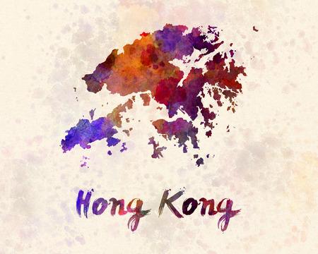 hong kong: Hong Kong in watercolor