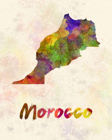 berber: Morocco in watercolor Stock Photo