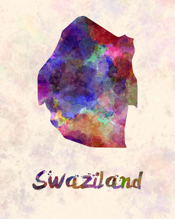 sovereign: Swaziland in watercolor