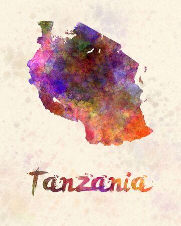 swahili: Tanzania  in watercolor