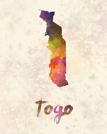 togo: Togo in watercolor