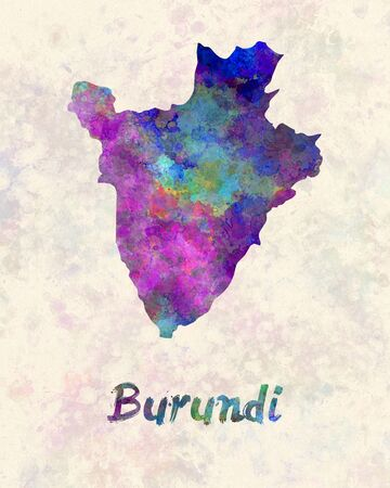 burundi: Burundi in watercolor