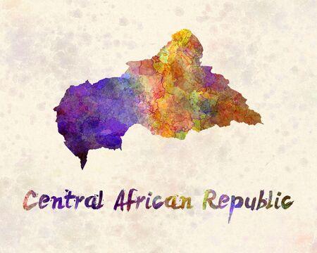 central african republic: Central African Republic in watercolor