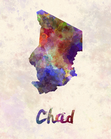 chadian: Chad  in watercolor Stock Photo