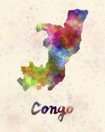 Congo: Congo in watercolor
