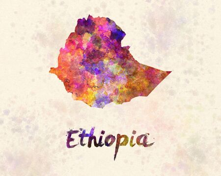 Ethiopia in watercolor