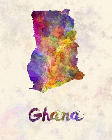 Ghana: Ghana in watercolor