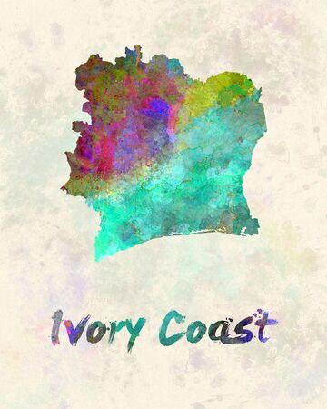 coast: Ivory Coast in watercolor