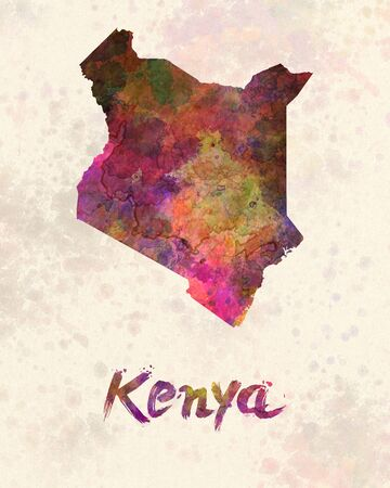 kenya: Kenya in watercolor