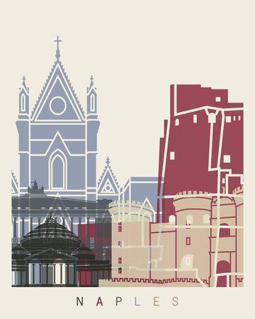 naples: Naples skyline poster