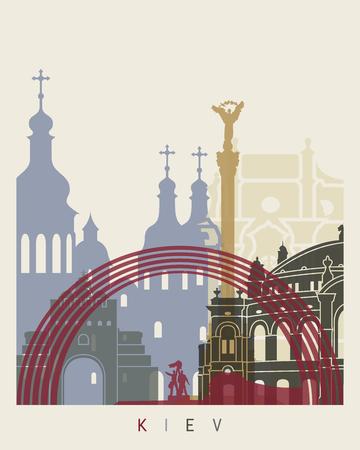 monumento: cartel horizonte de Kiev