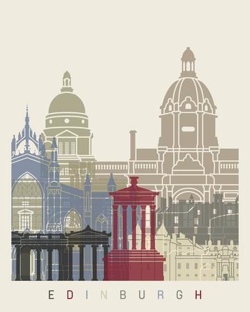 edinburgh: Edinburgh skyline poster