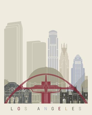 los: Los Angeles skyline poster