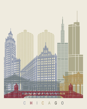 chicago skyline: Chicago skyline poster