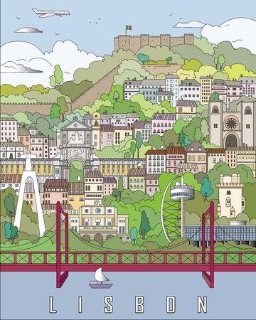 lisbon: Lisbon City Poster