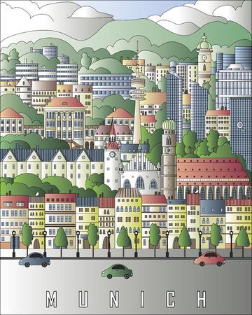 Munich city poster