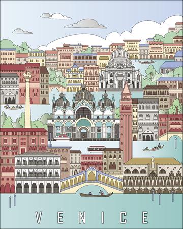 Venice City Poster Banque d'images - 58419814