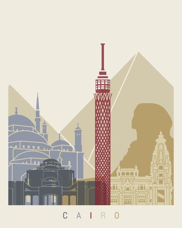 cairo: Cairo skyline poster in editable vector file Illustration