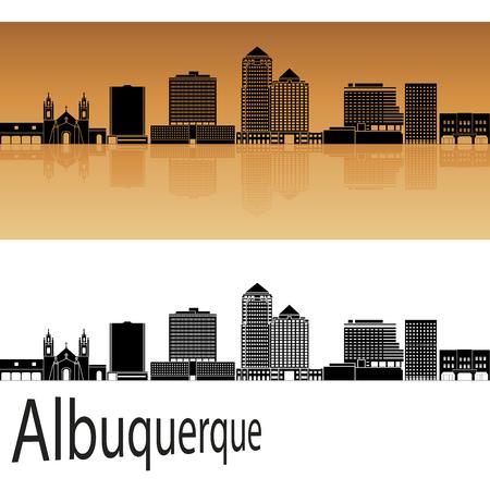 albuquerque: Albuquerque skyline in orange background in editable vector file Illustration