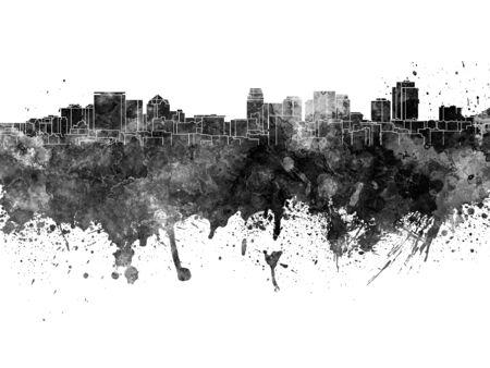 salt lake city: Salt Lake City skyline in black watercolor