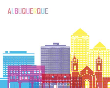 albuquerque: Albuquerque skyline pop in editable vector file Illustration