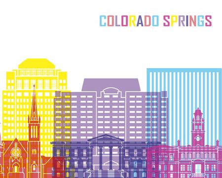 colorado: Colorado V2 skyline pop in editable vector file