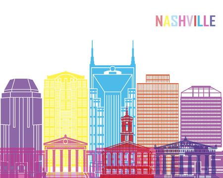 Nashville V2 skyline pop in editable vector file.