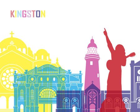 kingston: Kingston skyline pop in editable file.