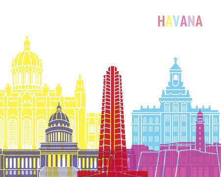 Havana V2 skyline pop in editable vector file