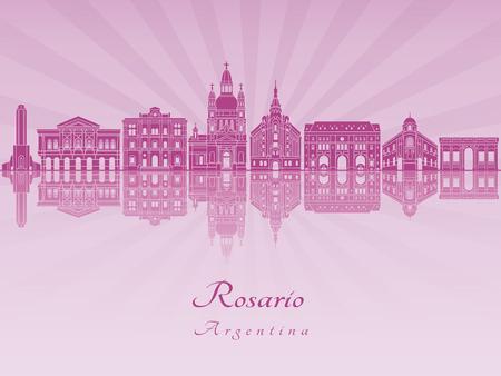 編集可能なベクトル ファイルで紫色を放射した蘭のロザリオとスカイライン。 写真素材 - 78918869