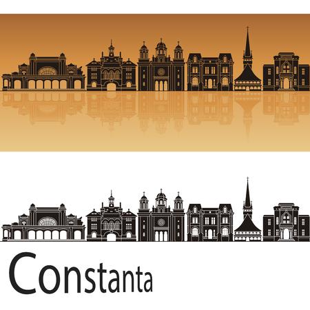 Boise horizon en orange fond dans le fichier vectoriel éditable Banque d'images - 81175568