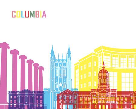 편집 가능한 벡터 파일에있는 컬럼비아 MO skyline pop 스톡 콘텐츠