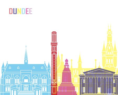 Dundee skyline pop in editable vector file