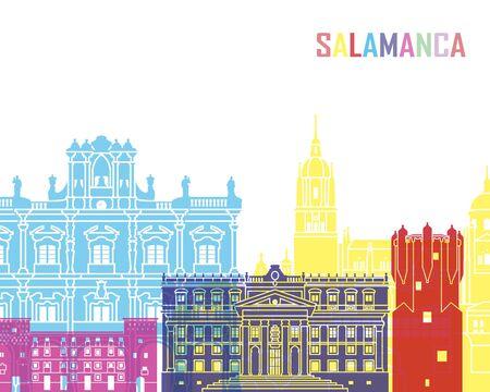 Salamanca skyline pop in editable vector file