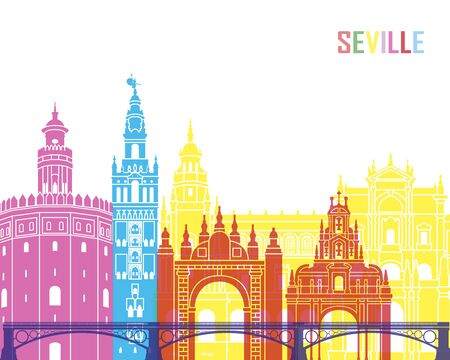 Seville V2 skyline pop in editable vector file